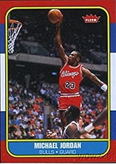 7482264b728f83 1986 Fleer Michael Jordan Rookie Reprint from Hall of Fame Box Set in Mint  Condition !