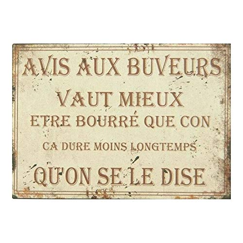 Antic Line Grande Plaque//Panneau brocante 62 cm*19 cm en Relief