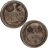 TOYSDONE Yes No Decision Maker Coin - Souvenir Coins - Yes No Coin - The Decision Coin - Metal Coins Collection - Decision Maker Coins - Double Sided Coin - Lucky Coin - Choice Coin - Collectors Coin