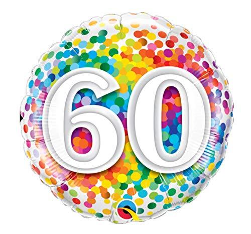 Folat 49548Q Ballon d'anniversaire 60 ans Multicolore