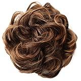 PRETTYSHOP Postizo Coletero Peinado alto, VOLUMINOSO, rizado, Moño descuidado mezcla marrón # 2T30 G23E
