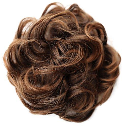 PRETTYSHOP XL Haarteil Haargummi Hochsteckfrisuren Brautfrisuren Voluminös Gelockt Unordentlich Dutt Braun Mix G23E