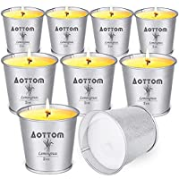 9-Pack Aottom Portable Small Iron Bucket Citronella Scented Candles