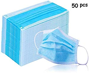 50Pcs Medical Masks,Protective n95 Dustproof Mask-Reusable PM2.5 Face Mask for Pollen, Smoke, Dust and Germs Outdoor
