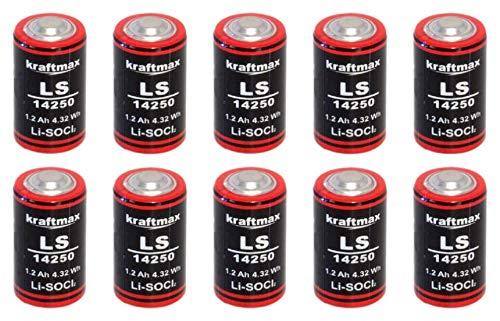 10x Lithium 3,6V Batterie LS 14250-1/2 AA ER14250 Li-SOCl2 LS14250 Akkuman.de Set (10er)