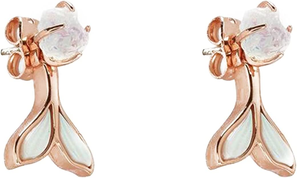Muliy Beauty products Mermaid Tail Earrings Fin Fishtail Max 48% OFF Openwork Jacket Ear