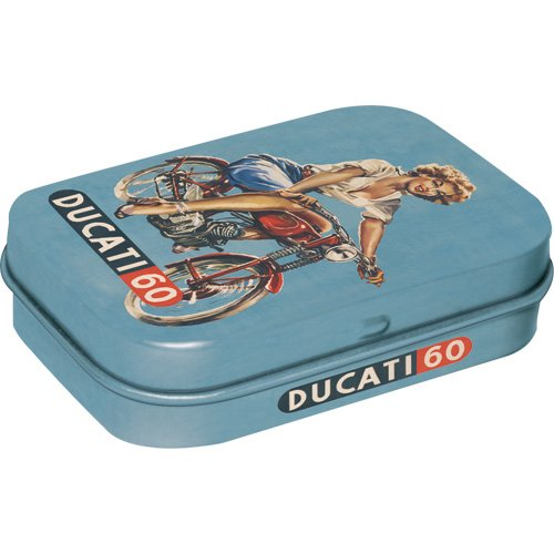 Nostalgic-Art 81130 Traditionsmarken - Ducati Pin up, Pillendose
