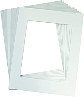 Golden State Art, Acid Free, Pack of 10 11x14 White Picture Mats Mattes with White Core Bevel Cut for 8x10 Photo
