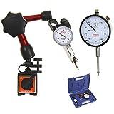 Türlen Dial Indicator/Test Indicator/Mini Magnetic Base Fine Adjustment Set in Fitted Case