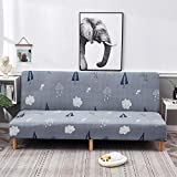 Nannan Funda para sofá elástica Tela Estampada con Estampado de Tela Silla para Banco Cubierta para sofá Cubierta Universal para sofá Cubierta para Muebles-Azul Gris_S 160-190cm