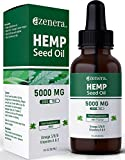 Hemp Seed Oil Drops 5000mg (30ml) - Mint Flavour with Vitamins A and E - Omega 3-6-9 for More Energy - Relax - Good Nights Sleep