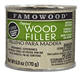 Won't crack or shrink Solvent-based wood filler made with actual wood fibers for repairing wood defects The upc of the product is 076818411222 First choice of woodworking professionals for morethan 50 years Saw, drill, sand, plane and nail, just like...