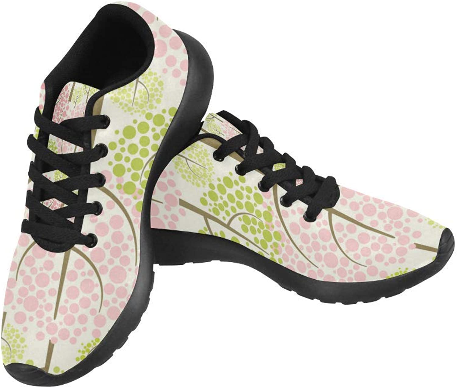 InterestPrint Spring Forest Pattern Print on Women's Running shoes Casual Lightweight Athletic Sneakers US Size 6-15