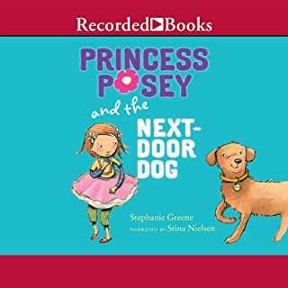 Princess Posey and the Next Door Dog audiobook cover art