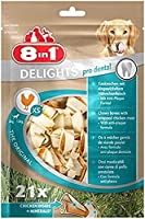 These Pro Dental Delights Patented Chewy Bones Have a Dental Anti-Plaque Formula and Come in An Economical Format. a Taste Combination of Ox Skin and Chicken Meat Enriched with Minerals that Encourage Good Oral Hygiene Strengthened Oral Hygiene; Enri...