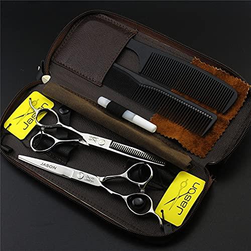 Kit de tijeras de corte de pelo de mano izquierda,conjunto de tijeras de peluquería,acero inoxidable,5,5 ',6',tijeras de adelgazamiento,cizallas para el cabello,para el salón de peluquería,6.0Inch