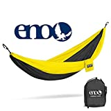 ENO Eagles Nest Outfitters - DoubleNest Hammock, Portable Hammock for Two, Black/Yellow