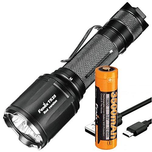 TK25Red rote und weiße LED Taschenlampe mit bis zu 1000 Lumen inklusive 3500mAh Akku