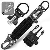 Holtzman's Elite Paracord Keychain (Black snap Hook)
