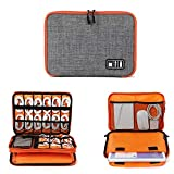 ORPIO (LABLE) Waterproof Double Layer Electronic Accessories Universal Carry Travel Gadget Organizer Bag/Case