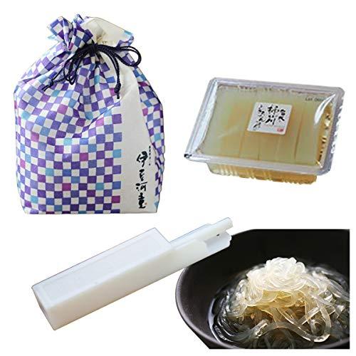 伊豆河童 巾着入り 柿田川名水 ところてん 1パック 3食セット プラスチック突き棒付き ギフト向け