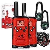 Monte Stivo Agent walkie Talkie niños | Juego con brújula y Placa | Regalo de Juguetes Ideal para niño y niña a Partir de 5 años (Rojo)