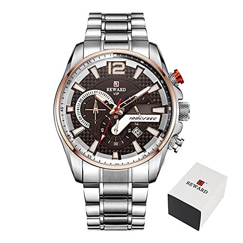 ZHUANYIYI Hombres Deportes De Ocio Cronógrafo Calendario Luminoso 30M Reloj De Cuarzo Impermeable Moda Dial Creativo Reloj De Acero Inoxidable