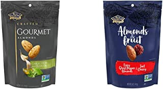 Blue Diamond Almonds Gourmet Garlic, Herb and Olive Oil , 5 Ounces with Blue Diamond Almonds & Fruit Bag, Ghost Pepper Alm...