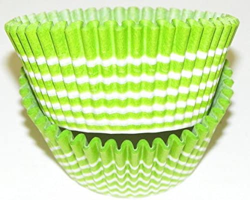 CakeSupplyShop Lime and White Circle - Cupcake 55% OFF Baking Cup Liners Trust