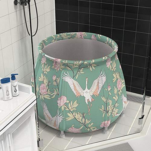 Plegable bañera de barril del baño de tina de baño de adultos inflable, Juego De Bañera No Inflable, for Adultos Unisex para Adultos y niños