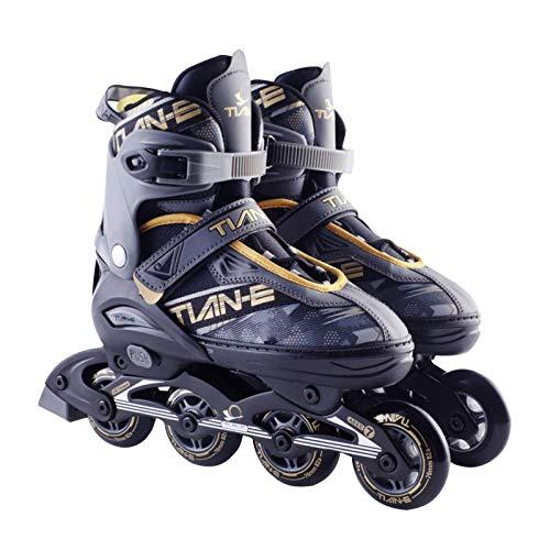 vincente Inline Skates Erwachsene Größenverstellbare Inliner,Rollschuhe Mädchen Verstellbarer Inline-Skate 82A Rollen,Unisex Fitness Skates Für Erwachsene