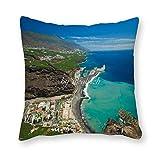 Viowr22iso Fundas de almohada La Palma Canarias Islas Canarias España vacaciones FramHouse funda de almohada decorativa funda de cojín para decoración del hogar 45,7 x 45,7 cm