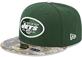 New Era New York Jets 59Fifty Fitted Hat NFL Football Flat Bill Baseball Caps 5950