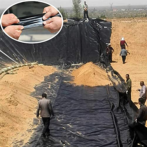 BAIYING Fischteichfolie, 0,5 MM HDPE Reißfestigkeit Anti-Versickerung Hohe Flexibilität Gartenpools Membran Zum Koi-Teich (Color : Black, Size : 1X1.5M)