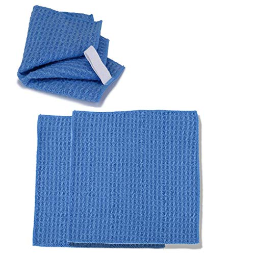 Microfiber Cleaning Cloths 15.5x13.5cm-for Eyeglasses, Sunglasses, Camera Lenses, Computer Screens, televisions and telescopes 2 Pack