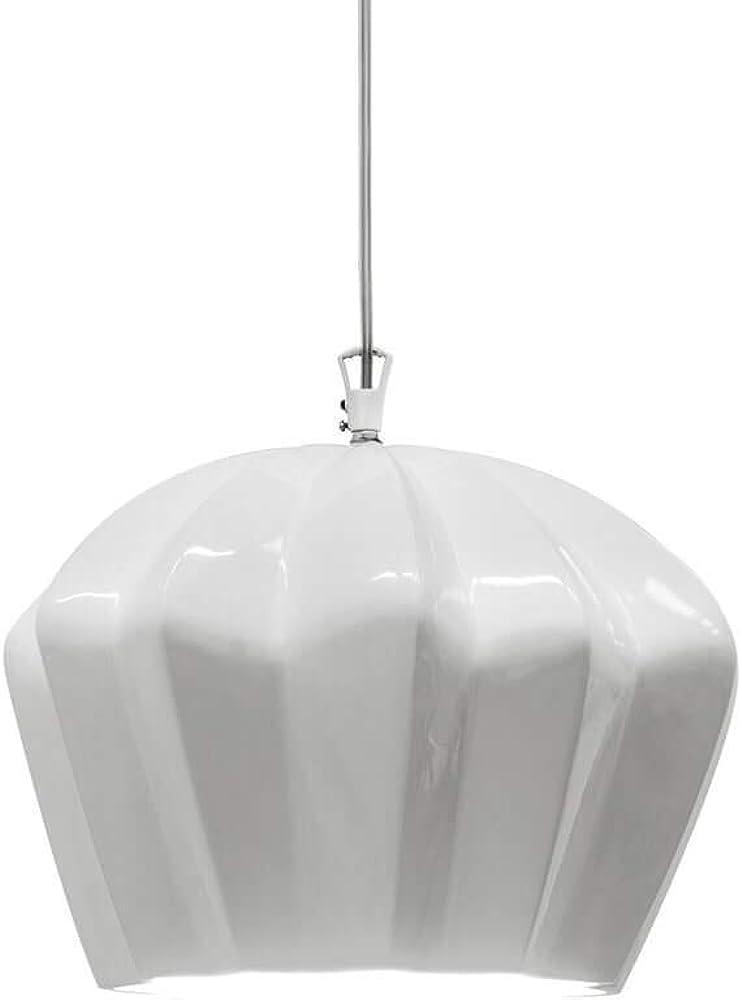 Karman sahara, lampada a sospensione,in ceramica bianca lucida SE670K-B