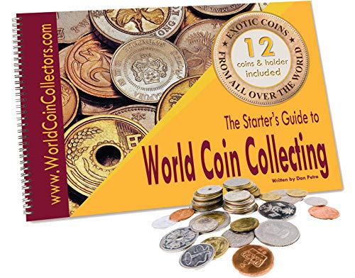 Zaioo ♥ The Starter's Guide to World Coin Collecting + 12 Coins from All Over The World + Coin Holder Page