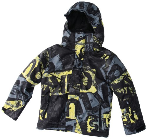 Quiksilver Jungen Snowboard Jacke Next Mission Printed Yout, stain maze, 152 /12 Jahre, KPBSJ033-045-T12