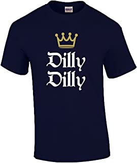 Funny Beer Drinking Dilly Dilly King Crown Outline Short Sleeve T-Shirt-Royal