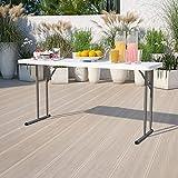 Flash Furniture 5-Foot Granite White Plastic Folding Training Table