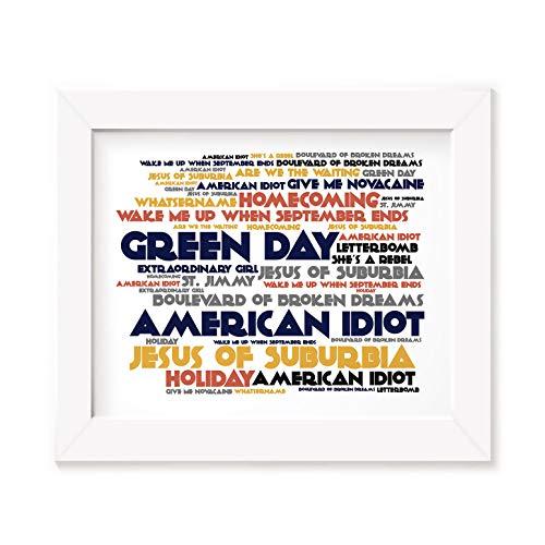 Green Day Poster Print - American Idiot - Letra firmada regalo arte cartel