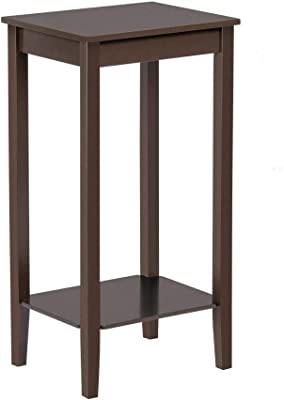 Amazon.com: HOMFA - Mesa auxiliar de madera para sofá, mesa ...