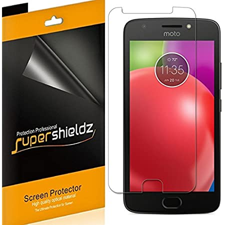 (6 Pack) Supershieldz for Motorola (Moto E4) and Moto E (4th Generation) Screen Protector, High Definition Clear Shield (PET)