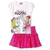 Disney Disfraz oficial de Princesa de manga corta para niña, conjunto de camiseta y falda, 100%...