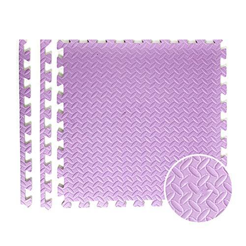 AWSAD Dalles en Mousse Épaissir Gym Tapis Rampant for Enfants, 4 Couleurs 60x60x2.5cm (Color : Purple, Size : 60x60x2.5cm(1 Tiles))