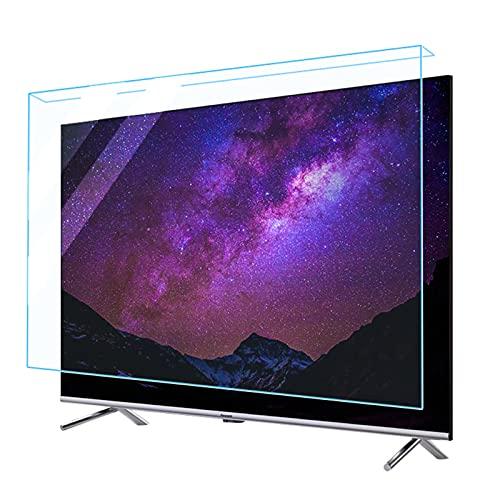 WUK Protector de Pantalla de TV de 32-75 Pulgadas, Filtro de Pantalla Anti luz Azul/antiarañazos/antideslumbrante Alivia la Fatiga Ocular Cubierta Protectora de Pantalla de TV para LCD LED