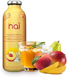 Nai - Jasmine White Tea | Infused with Peach, Mango, Pear Juices - No Added Sugar, Natural Ingredients, No Preservatives (...