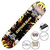 HZTWS Skateboard komplett Ahornbrett Funboard...