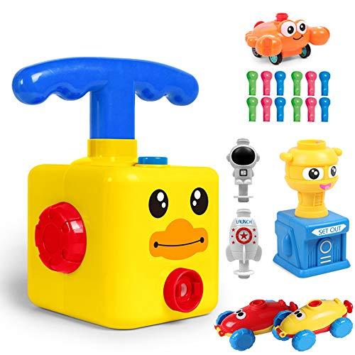 vxcsbhr Kinder Ballon Auto Spielzeug,Children Inertial Power Ball Car,Wissenschaft Auto Baby Spielzeug Kinder Geschenk mit Ballon Lernspielzeug mit 12 Ballon
