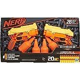 Nerf Alpha Strike Set de 26 pièces Cobra RC-6 Double Cible – Comprend 2 Pistolets Jouets, 4 Demi-cibles et 20 fléchettes Officielles Nerf Elite – pour Enfants, Adolescents, Adultes